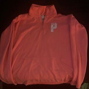 Neon orange half zip from Pink !